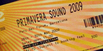 Primavera Sound ticket