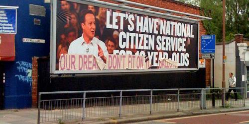 Conservative poster, Blackwall Lane, Greenwich