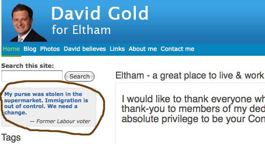 David Gold's website, grabbed 10/5/2010