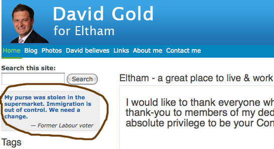 David Gold's website, grabbed 10/5/2010