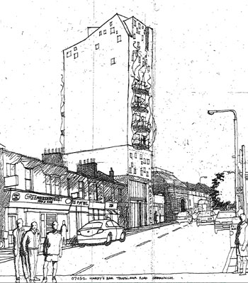Planning submission for Hardys Hotel development