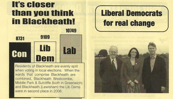 Blackheath Westcombe Lib Dem leaflet