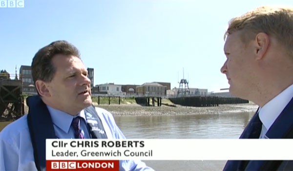 Greenwich Council leader Chris Roberts on BBC London News, 4 June 2009