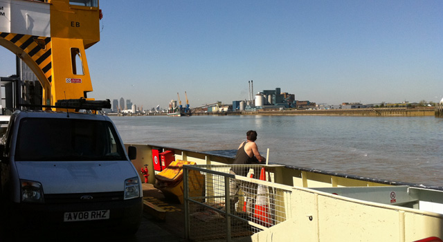 Woolwich Ferry, spring 2011