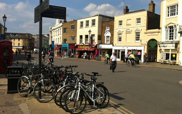Greenwich town centre, 9 August 2012