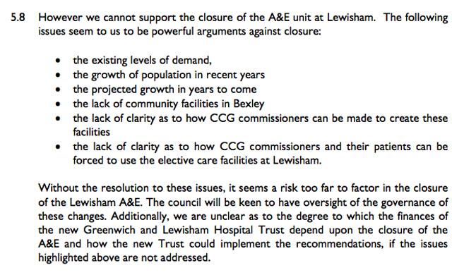 Greenwich Council's response to the TSA