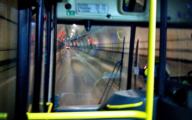 Blackwall Tunnel by bus
