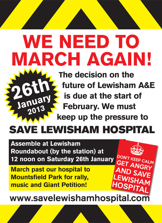 Save Lewisham Hospital poster