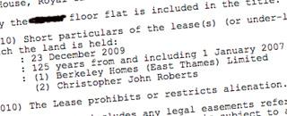 Land Registry entries