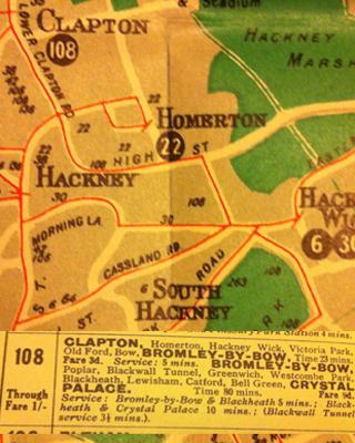 General bus map, 1930