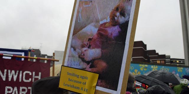 Lewisham Hospital demo, 2012