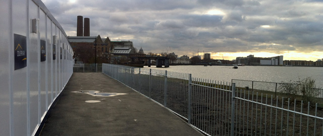 Thames Path. Greenwich, 2 February 2013