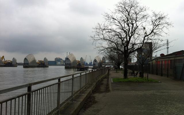 Thames Path, Charlton, 9 February 2013