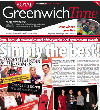 Greenwich Time, 19 March 2013