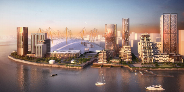 Quintain plan for Greenwich Peninsula