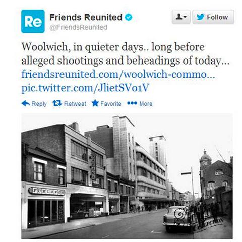 Friends Reunited tweet