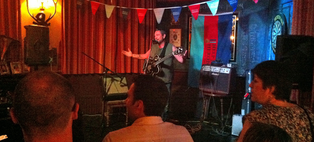 Huey Morgan at the Pelton Arms, 7 June 2013