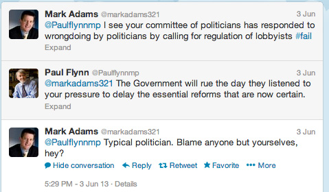 Mark Adams' tweets