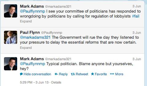 Mark Adams' tweets