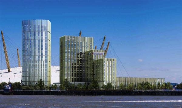 Under-construction Intercontinental Hotel Greenwich