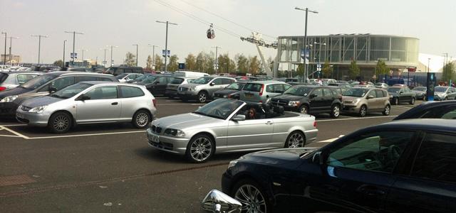 O2 car park. 7 July 2013