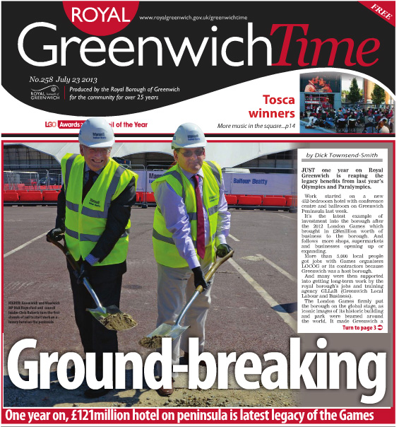 Greenwich Time, 22 July 2013