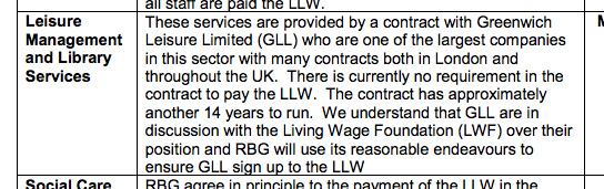 London Living Wage licence for Greenwich Council