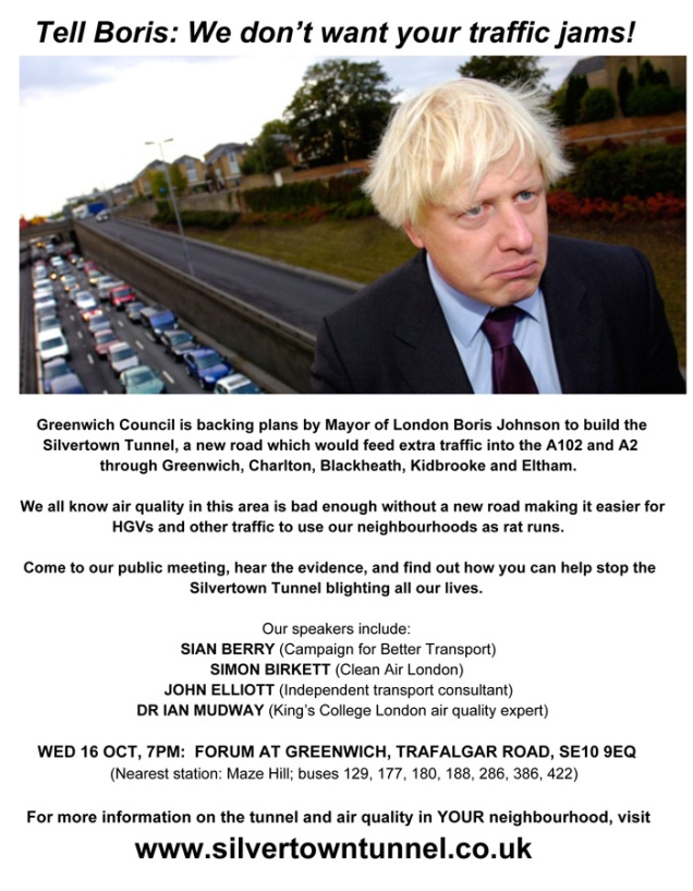 Silvertown Tunnel public meeting, 16 October