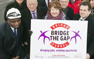 Greenwich Council Bridge The Gap campaign photo, January 2013