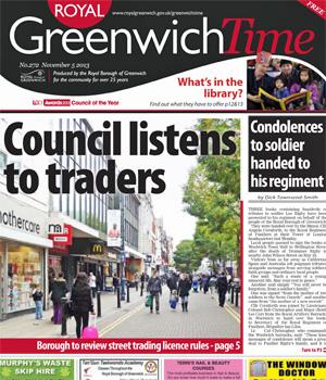 Greenwich Time, 5 November 2013