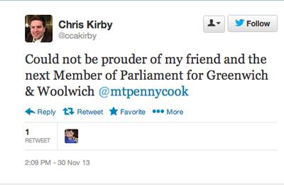 Chris Kirby's tweet