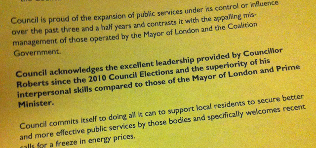 Sarcastic Greenwich Conservative amendment