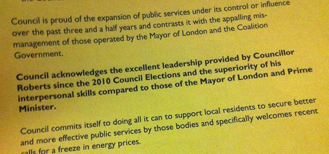 Sarcastic Greenwich Conservative amendment