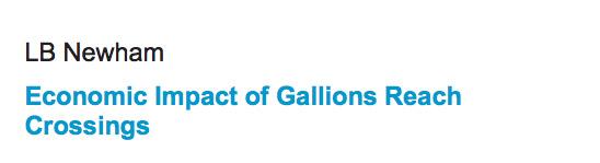 Newham Council Gallions Reach Bridge business case