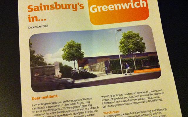 Sainsbury's Charlton PR leaflet