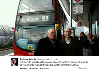 Lord Adonis's Twitter feed, 19 February 2014