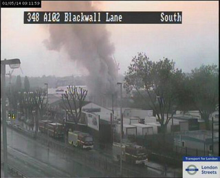 Thursday's fire by the A102