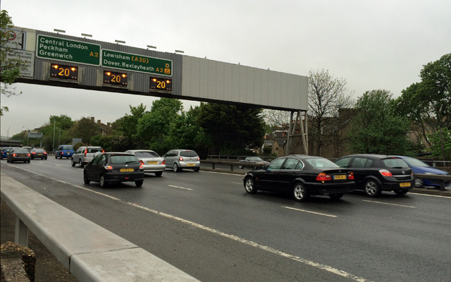 The southbound traffic queue that the Silvertown Tunnel will exacerbate