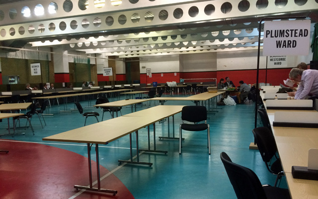 Empty counting hall