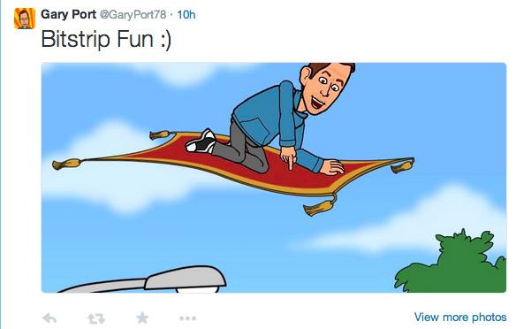 Gary Port's tweet