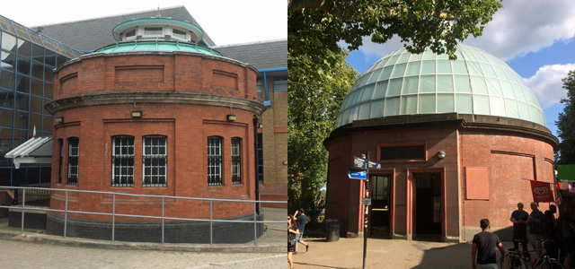 The system would be trialled in Woolwich (left) before coming to Greenwich (right)