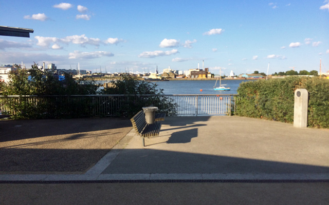 Site of River Way, Greenwich, August 2014