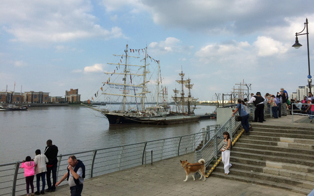 Tall ships at Woolwich, 7 September 2014