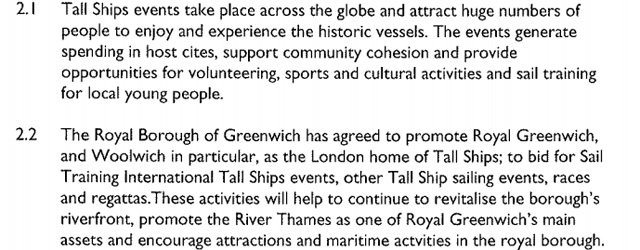 Greenwich Council report, May 2013
