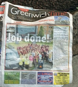 Greenwich Time in the gutter