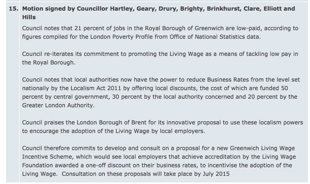 Greenwich Council full meeting agenda, 28 January 2015