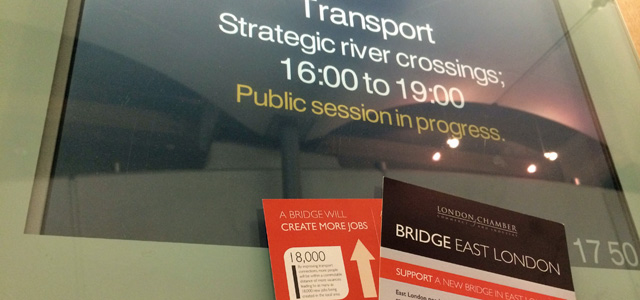 The London Chamber of Commerce left leaflets all over the Transport Select Committee hearing last month