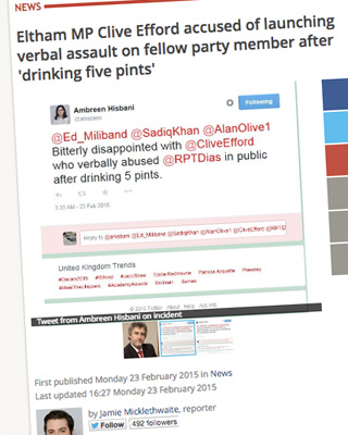 The News Shopper spotted these small-hours tweets about a Labour row