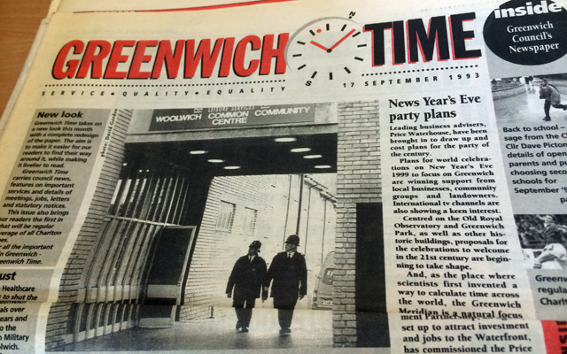 Greenwich Time, 1993