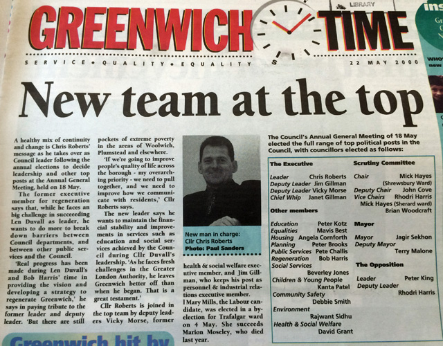 Greenwich Time, 2000
